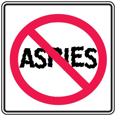 No Aspies Sign