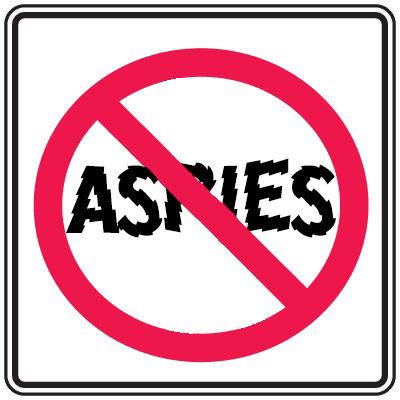 No Aspies Sign